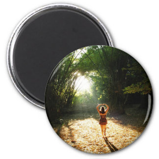 Fall in love 6 cm round magnet