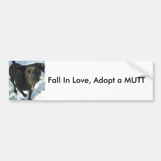 Fall In Love, Adopt a MUTT Bumper Sticker