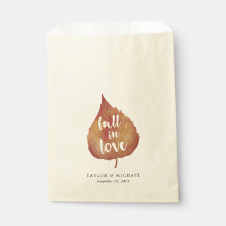Fall in Love | Autumn Leaves Wedding Favour Bags