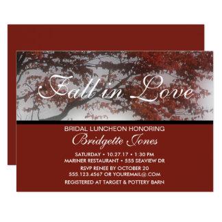 Fall in Love Bridal Luncheon Elegant Bridal Shower Card