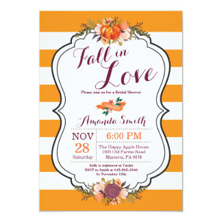 Fall in Love Bridal Shower Invitation Card
