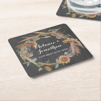 Fall in Love Chalkboard Coaster Mats Wedding Party