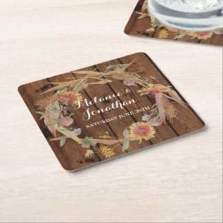 Fall in Love Coasters Mats Wedding Party