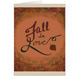 Fall in Love: greeting card blank