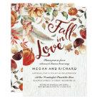 Fall in Love Harvest Pumpkin Rehearsal Dinner Card