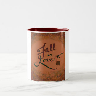 Fall in Love mug! Two-Tone Coffee Mug
