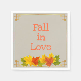 Fall In Love Paper Napkin
