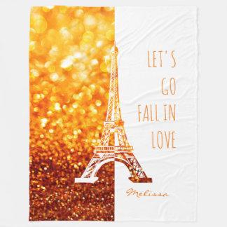 Fall in love Paris   Romantic Eiffel Tower Fleece Blanket