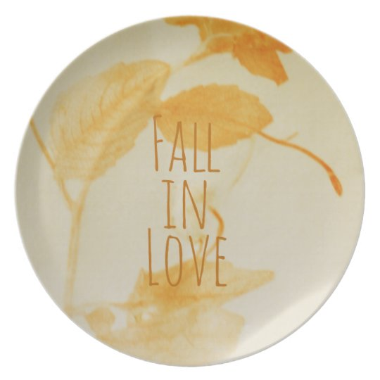 Fall in love plate