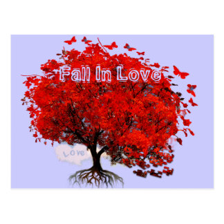 Fall In Love Post Cards