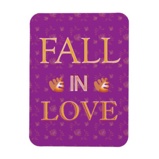 Fall in Love Vinyl Magnets