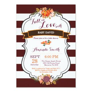 Fall in Love Pumpkin Baby Shower Invitation Card