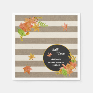 Fall in Love Rustic bridal shower / baby shower Paper Napkin