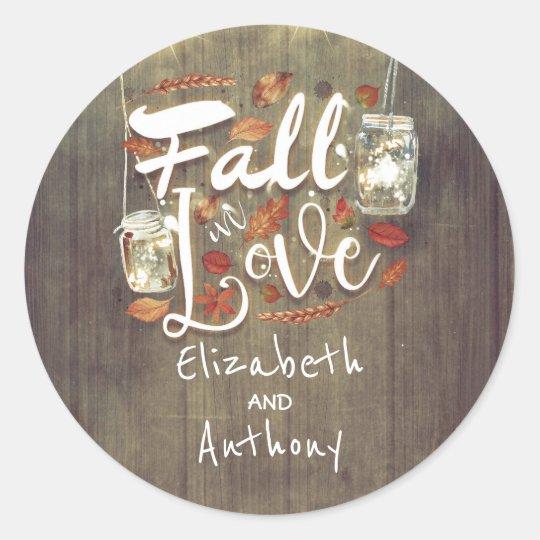 Fall in Love Rustic Wedding Mason Jar Lights