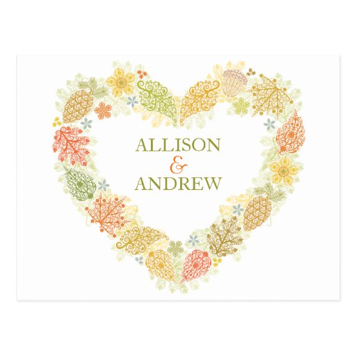 Fall in Love Save the Date Postcard