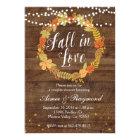 Fall In Love Shower Invitation