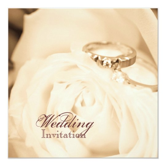 Fall in Love Wedding Ring Engagement party Card