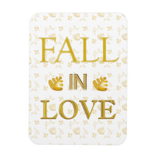Fall in Love White Rectangle Magnet
