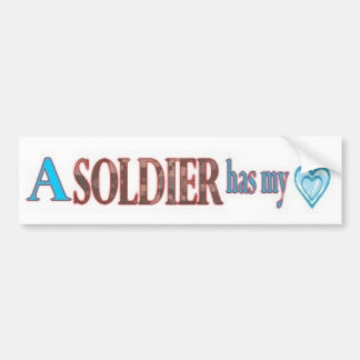 Fall in Love with a Soldier Car Bumper Sticker