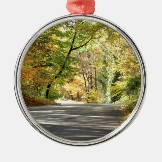 Fall in New England Back Road Christmas Ornament