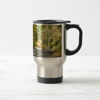 Fall in New England Back Road Stainless Steel Travel Mug