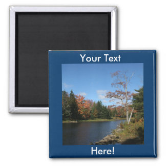 Fall in New England Square Magnet