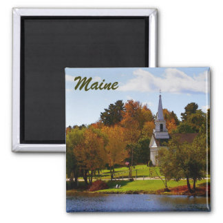 Fall in Orland, ME Square Magnet