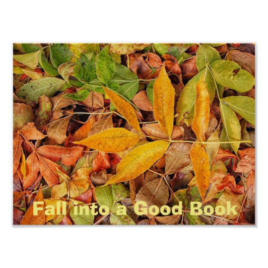 Fall into a Good Book Literacy Poster