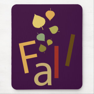 Fall is Falling Mouse Mat
