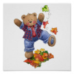 Fall is Fun Bear Poster