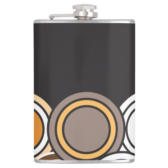 Fall is in Full Circle Hip Flask