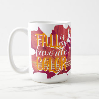 """Fall is My Favourite Colour"" Mug Yellow"