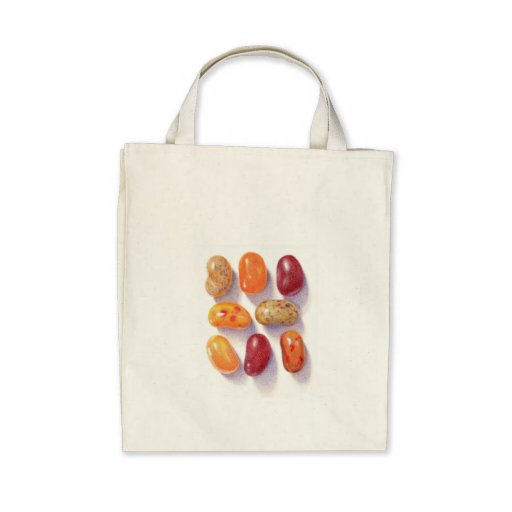Fall Jelly Beans Organic Grocery Tote Canvas Bag