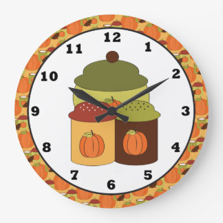Fall Kitchen Wall Clock