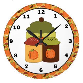 Fall Kitchen Wall Clock