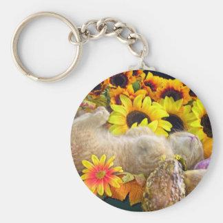 Fall Kitty Cat Keychain