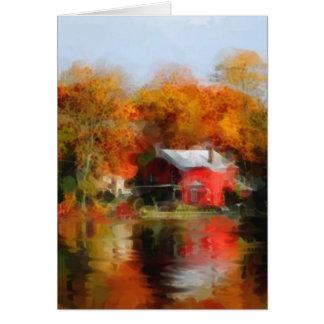 Fall Lake Greeting Card