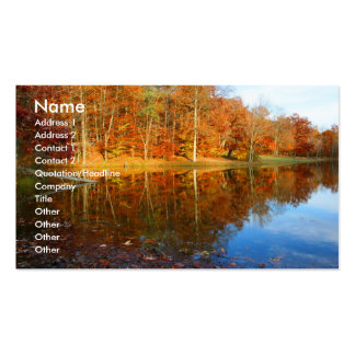 Fall Lake Pack Of Standard Business Cards