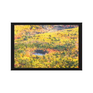 Fall Landscape With Pond in Acadia National Park Stretched Canvas Prints