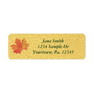 Fall Leaf Address Label