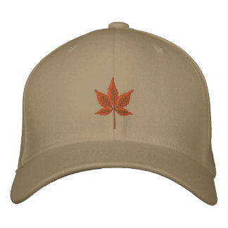 Fall Leaf Embroidered Hat