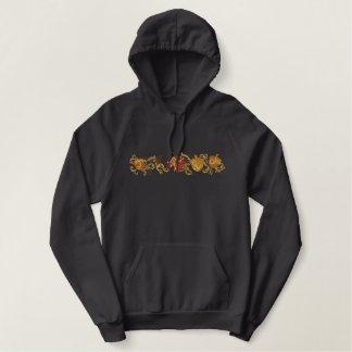 Fall Leaf Filigree Embroidered Hoodie