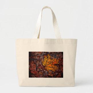 Fall Leaf Mosaic Large Tote Bag