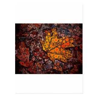 Fall Leaf Mosaic Postcard