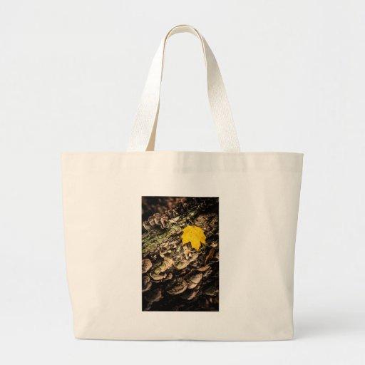 Fall Leaf on Log Bags