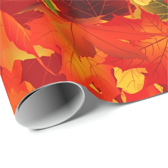 Fall Leaf pattern wrapping paper