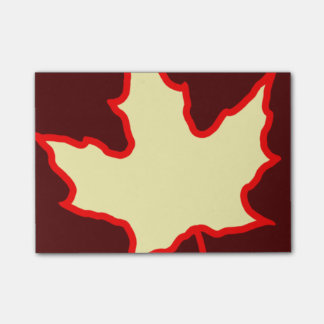 Fall Leaf Post-it Notes