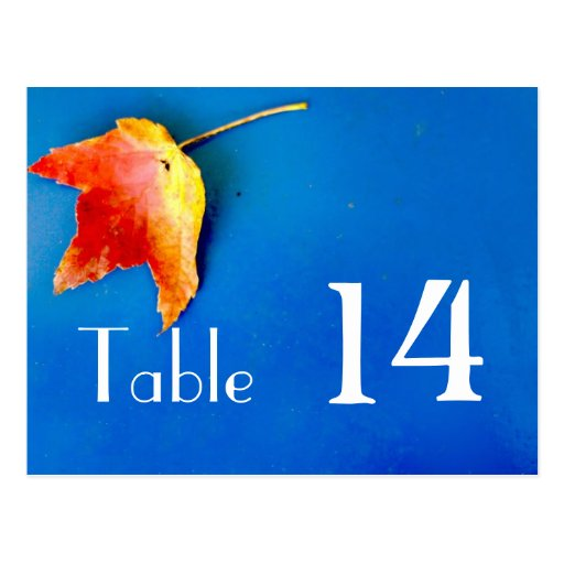 Fall leaf table # card post card