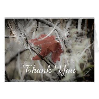 Fall Leaf Thank you card