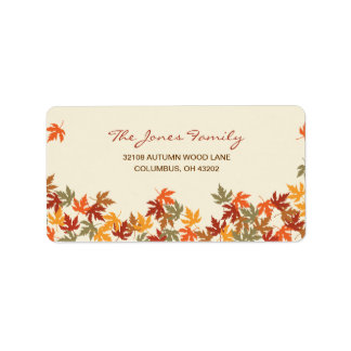 Fall Leaves Address Label